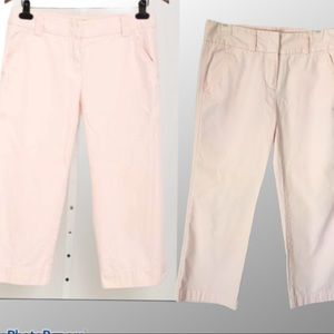 J.crew size 4 favorite fit Chino's Baby Pink Pants